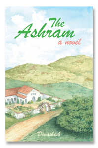 front cover image for the ashram showing painting of spiritual community in the topanga canyon hills